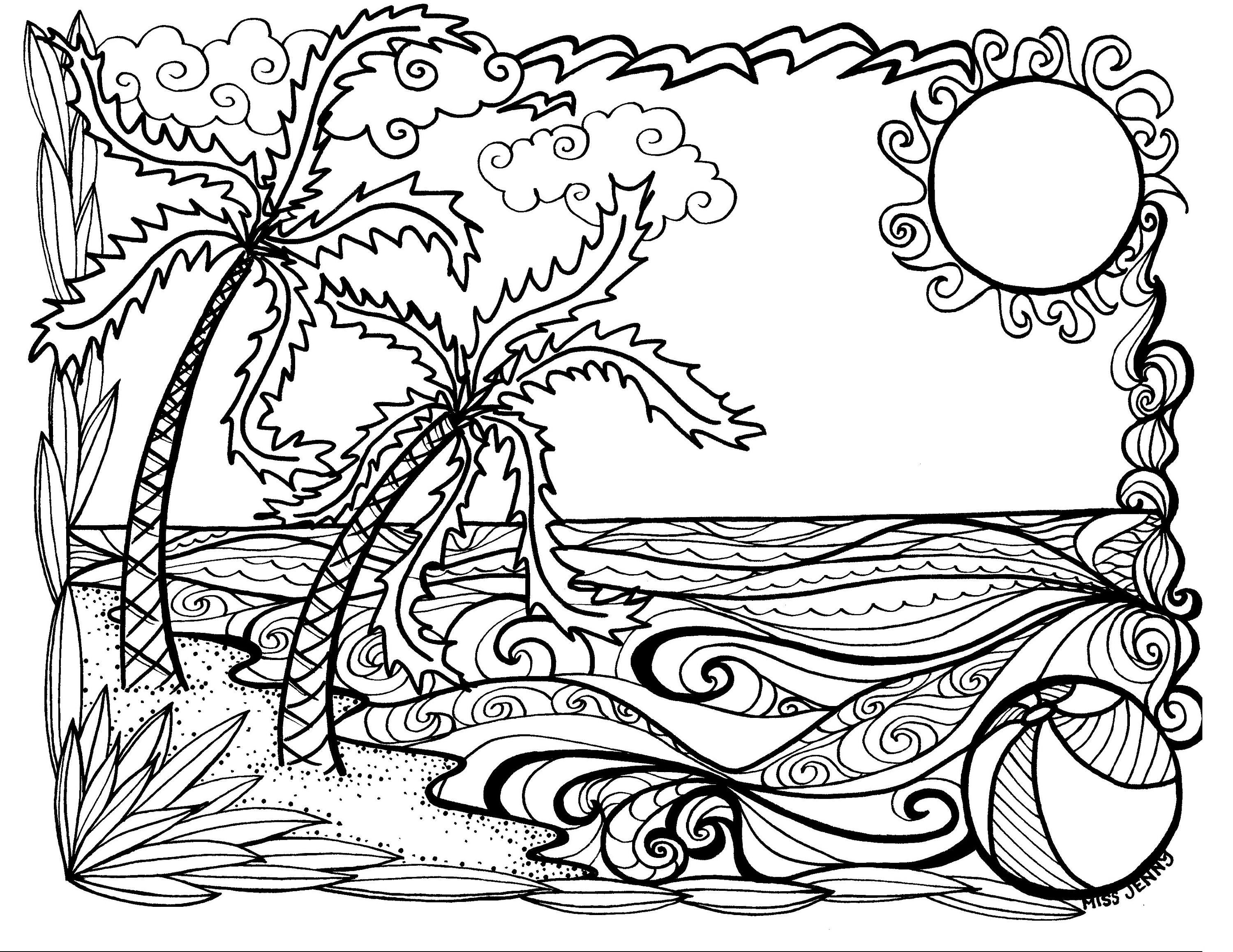 hard beach coloring pages free printable beach coloring pages for kids pages beach coloring hard