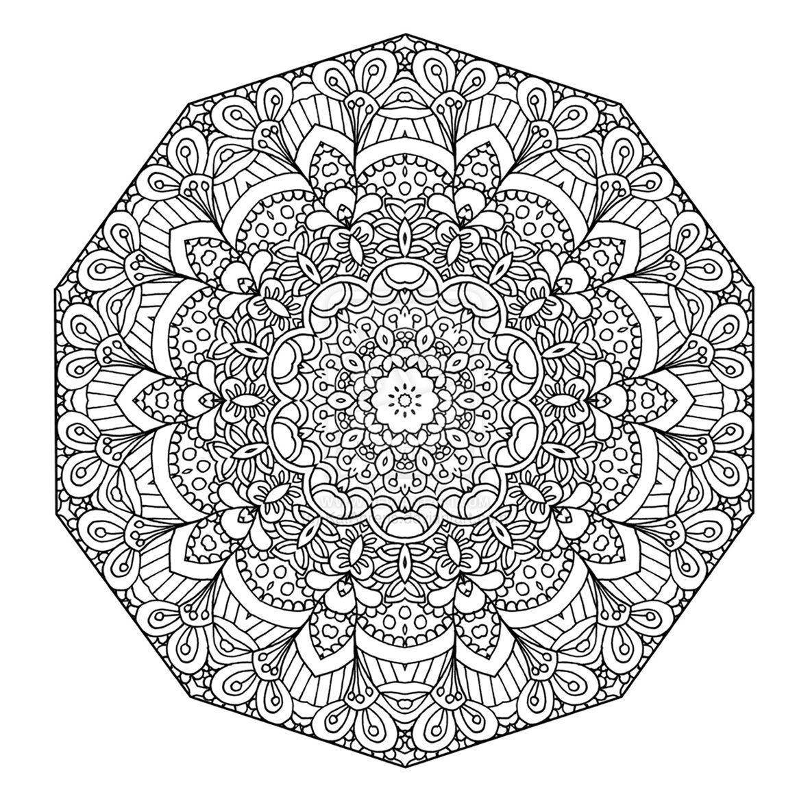 hard mandala coloring pages complex mandala with vegetal and floral elements very pages hard mandala coloring