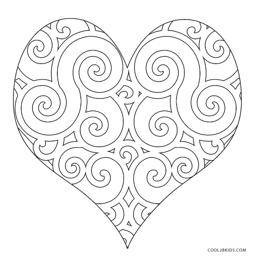 heart color page free printable heart coloring pages for kids color heart page