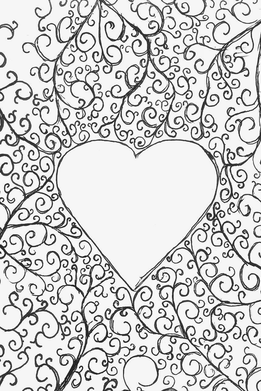 heart color page free printable heart coloring pages for kids color page heart 1 1