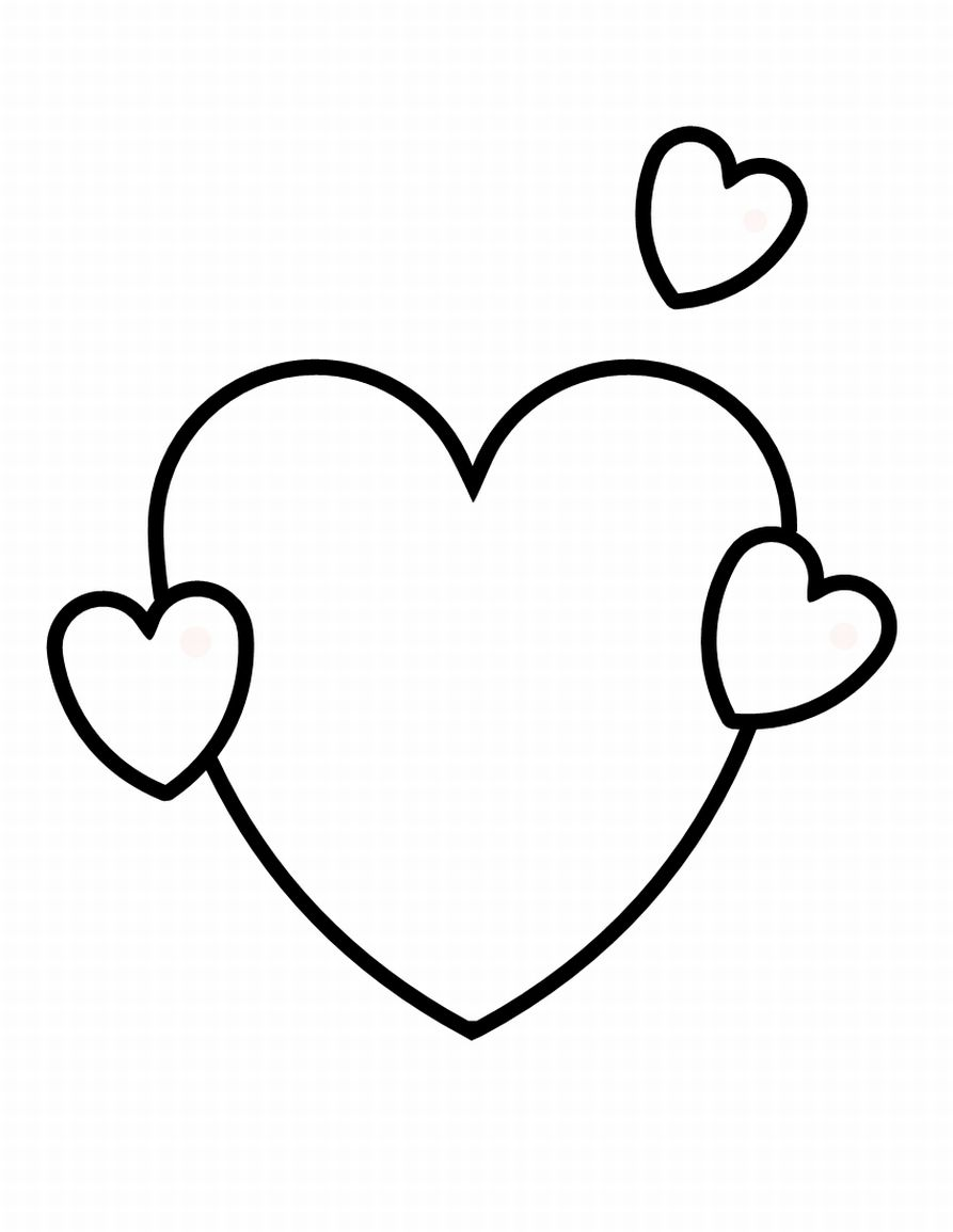 heart color page free printable heart coloring pages for kids page color heart