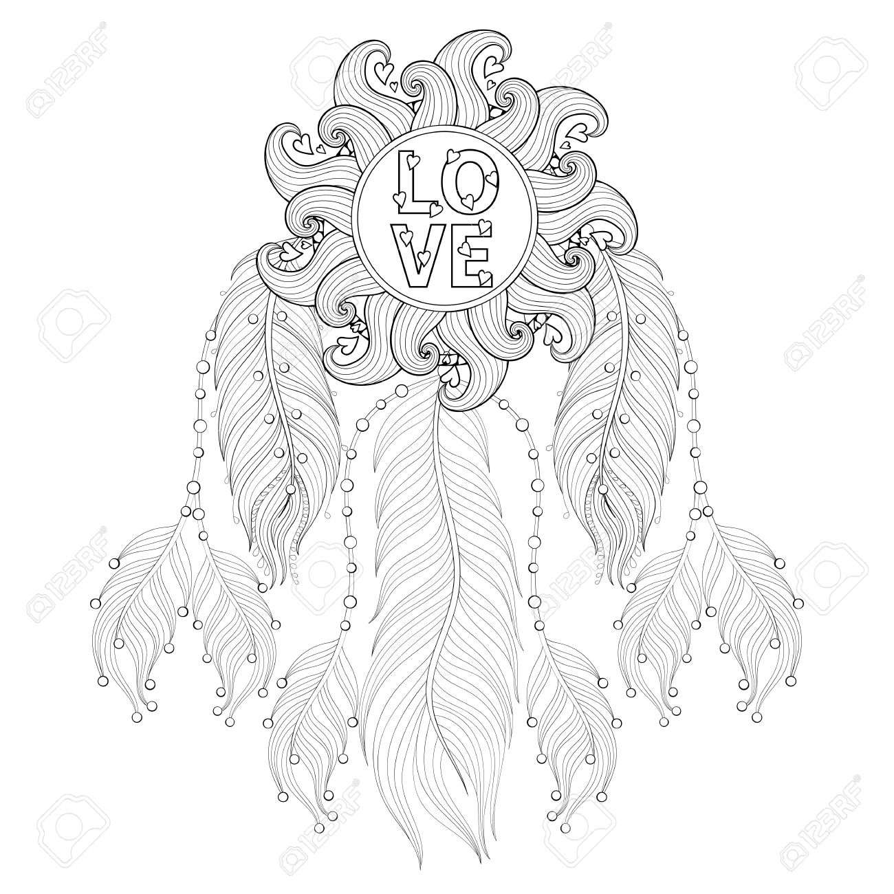 heart dream catcher coloring pages dream catcher colorin pages google search heart coloring dream pages catcher heart