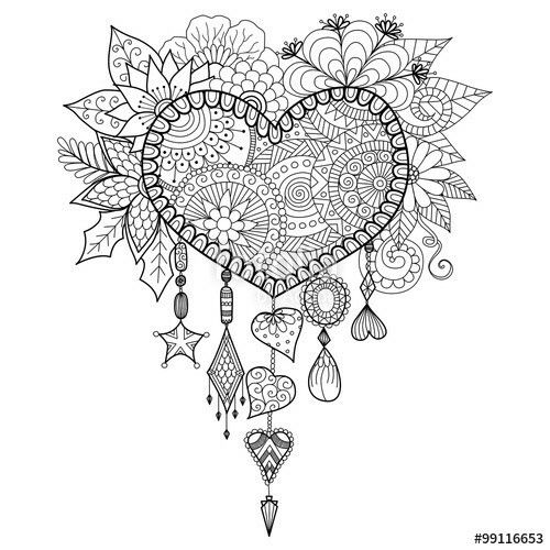 heart dream catcher coloring pages heart shaped dream catcher coloring page free printable coloring pages catcher dream heart