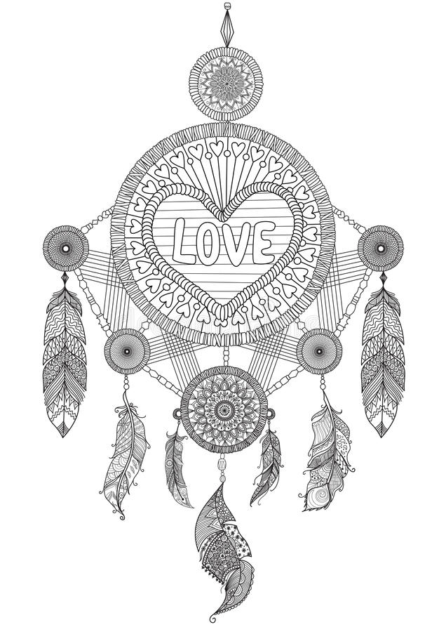 heart dream catcher coloring pages pin on odds and ends coloring pages heart dream catcher
