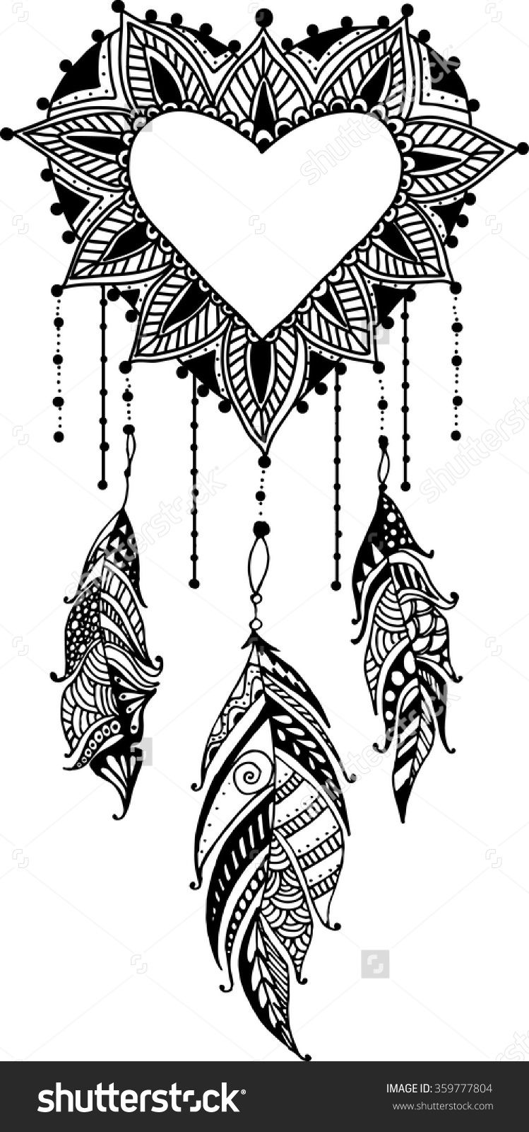 heart dream catcher coloring pages pin von anne bölter auf ausmalbilder ausmalbilder pages dream coloring heart catcher