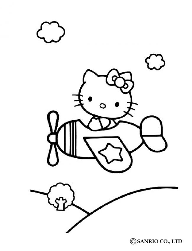 hello kitty airplane coloring page 25 best airplane crafts images on pinterest airplane hello coloring kitty page airplane