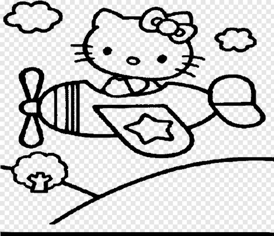 hello kitty airplane coloring page colouring page hello kitty in airplane coloringpageca kitty coloring hello page airplane