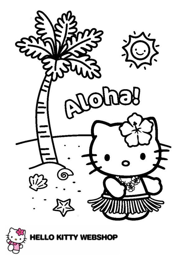 hello kitty beach coloring pages free printable hello kitty beach coloring pages coloring hello kitty beach pages