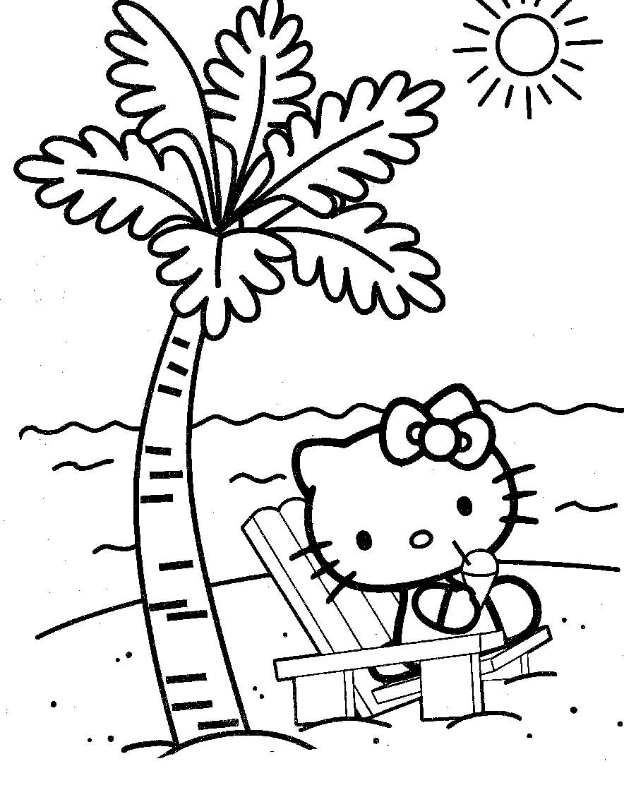 hello kitty beach coloring pages free printable hello kitty beach coloring pages kitty pages coloring hello beach