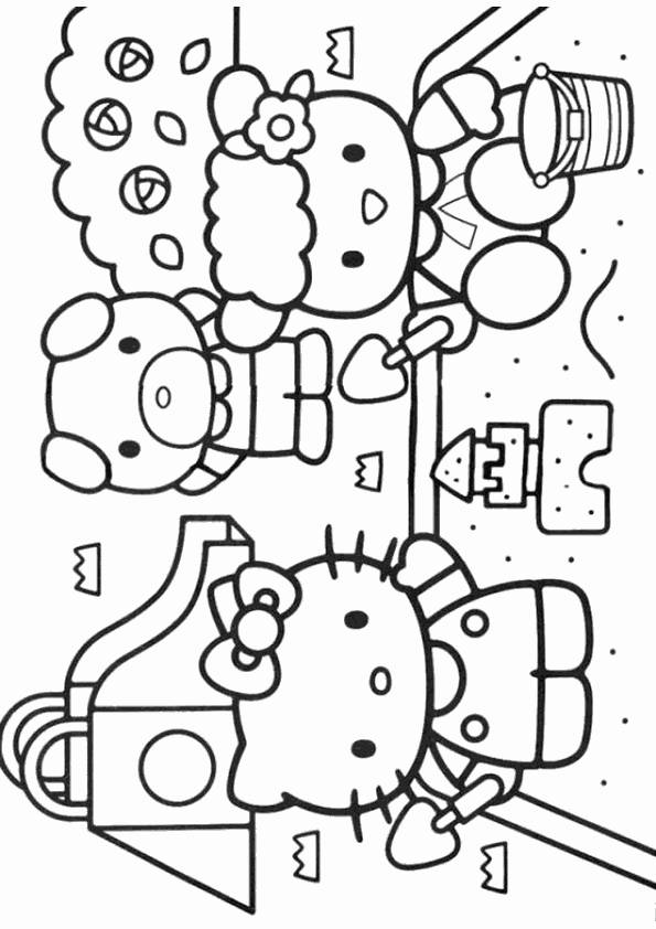 hello kitty beach coloring pages hello kitty beach coloring pages divyajananiorg pages beach hello coloring kitty
