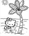 hello kitty beach coloring pages hello kitty coloring pages kitty beach pages hello coloring