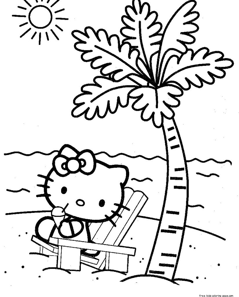 hello kitty beach coloring pages pin op zoo coloring pages beach coloring pages kitty hello