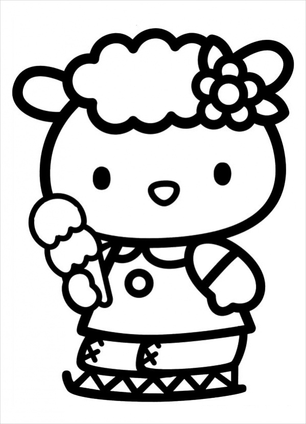 hello kitty coloring pages pdf hello kitty coloring page 10 free psd ai vector eps pages pdf kitty hello coloring