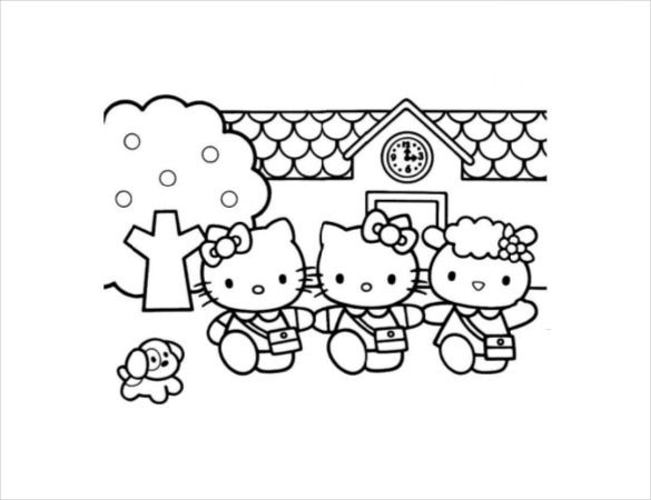 hello kitty coloring pages pdf hello kitty coloring pages coloring home coloring hello kitty pages pdf