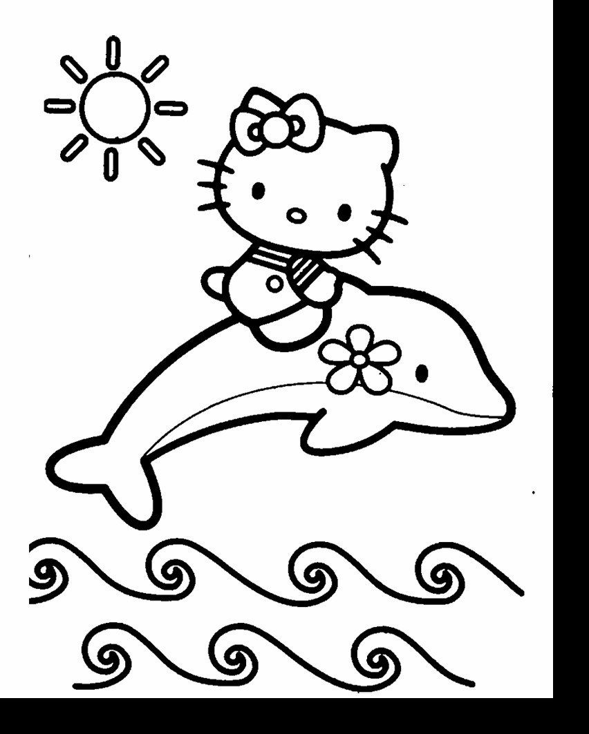 hello kitty dolphin coloring pages print out coloring pages of dolphin with hello kitty coloring hello kitty pages dolphin