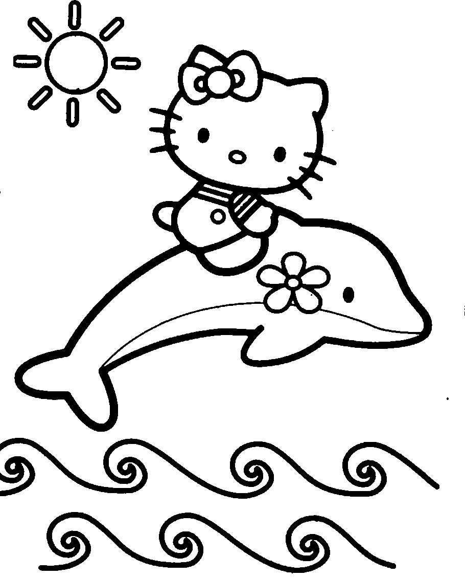 hello kitty dolphin coloring pages print out coloring pages of dolphin with hello kitty hello coloring dolphin pages kitty