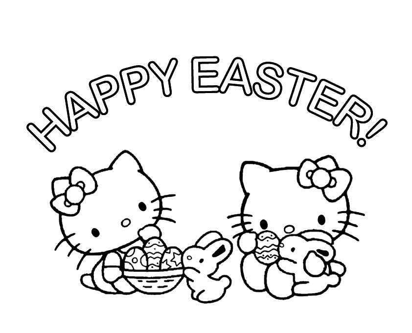 hello kitty easter coloring pages free easter coloring pages at getdrawings free download easter kitty coloring pages hello