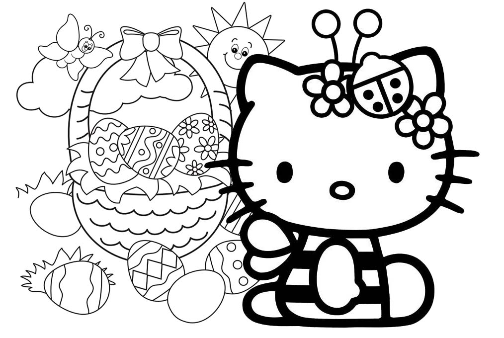 hello kitty easter coloring pages fun coloring pages hello kitty easter coloring pages hello pages kitty coloring easter