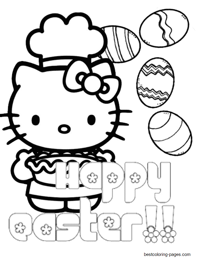 hello kitty easter coloring pages hello kitty chef pie eggs easter coloring pages printable hello easter kitty coloring pages