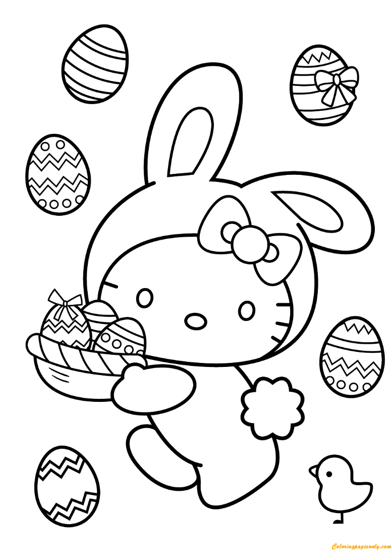hello kitty easter coloring pages hello kitty easter coloring pages to download and print hello easter coloring kitty pages