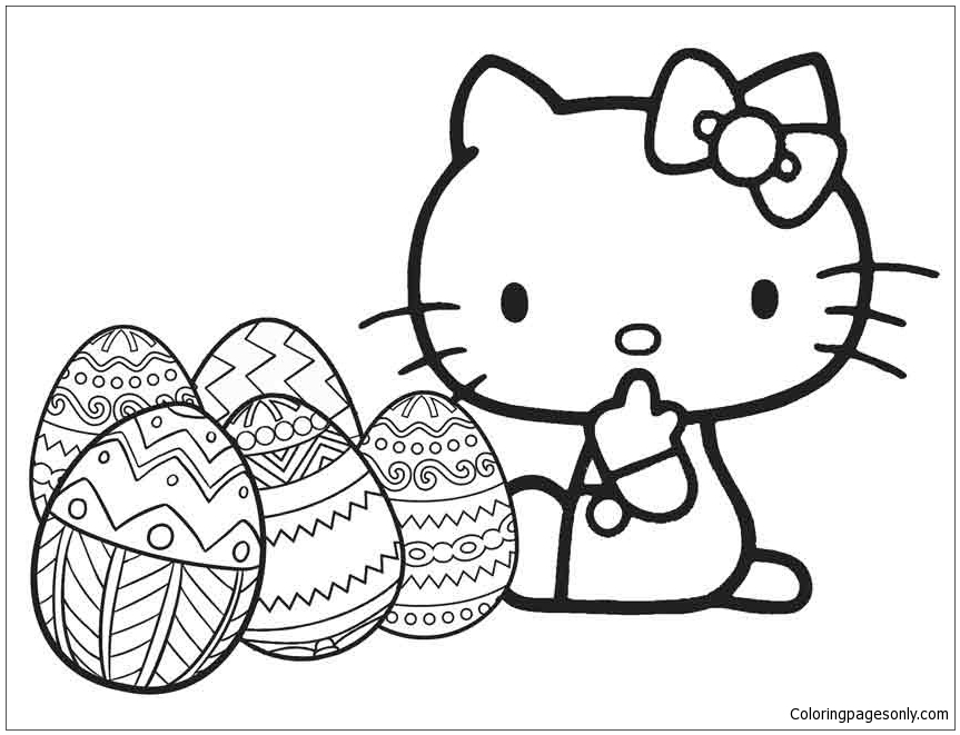 hello kitty easter coloring pages hello kitty easter coloring pages to download and print hello kitty pages easter coloring