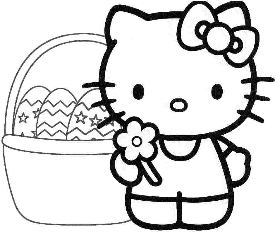 hello kitty easter coloring pages hellokitty easter coloring page hello easter coloring kitty pages