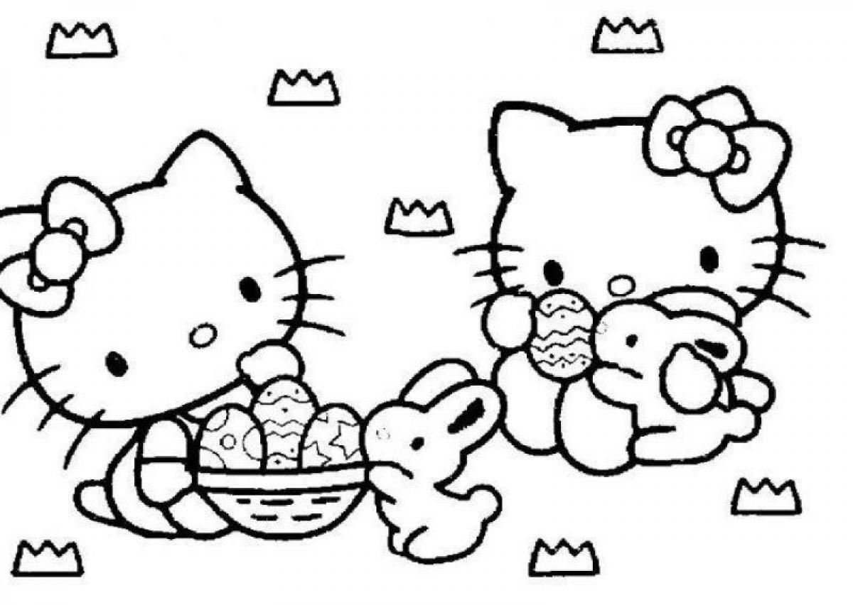 hello kitty easter coloring pages print hello kitty happy easter coloring pages in 2020 coloring pages kitty hello easter