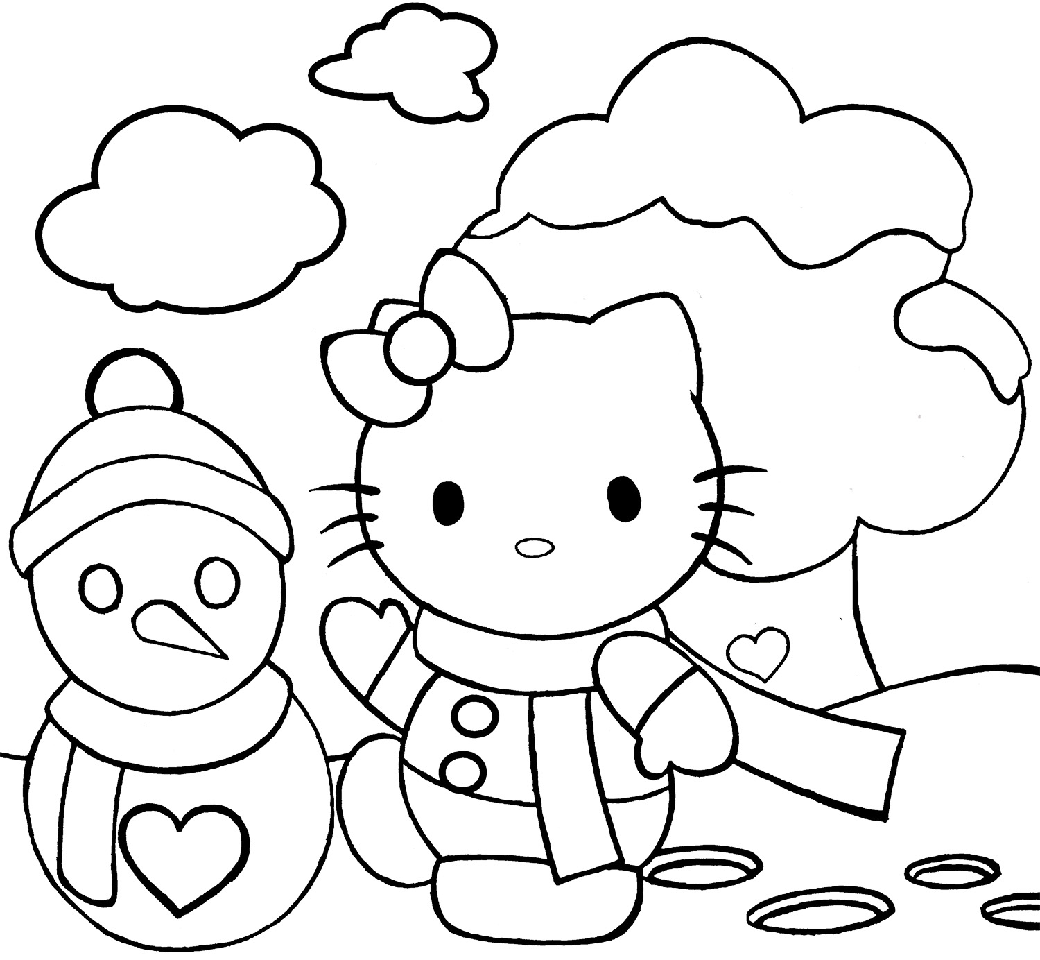 hello kitty holiday coloring pages hello kitty christmas coloring pages getcoloringpagescom holiday hello pages coloring kitty