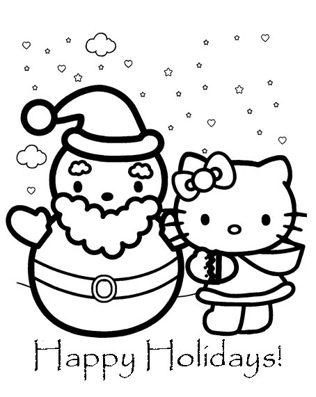 hello kitty holiday coloring pages hello kitty christmas coloring pages learn to coloring holiday hello coloring kitty pages