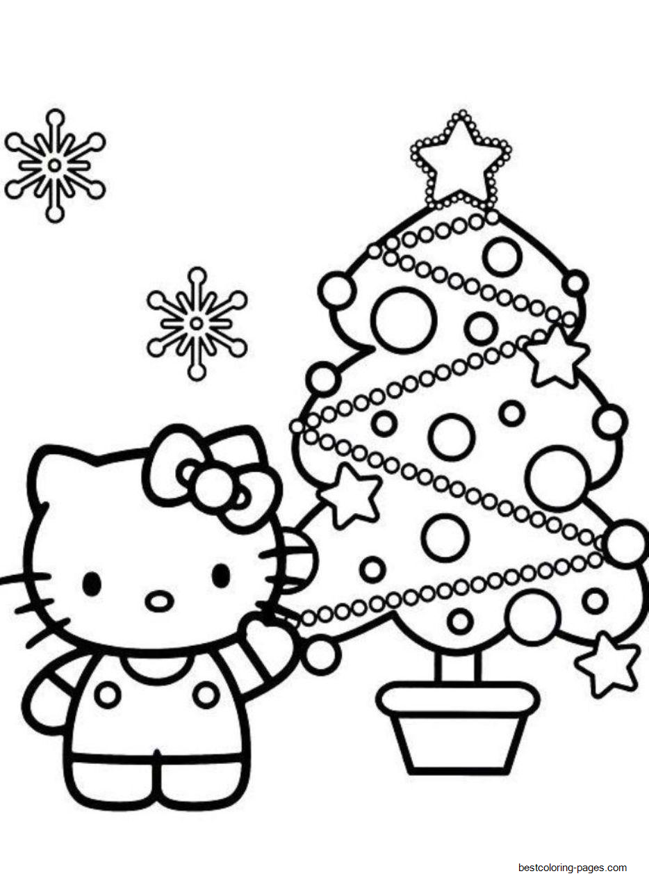 hello kitty holiday coloring pages hello kitty s christmas tree 30e5 coloring pages printable holiday pages hello coloring kitty