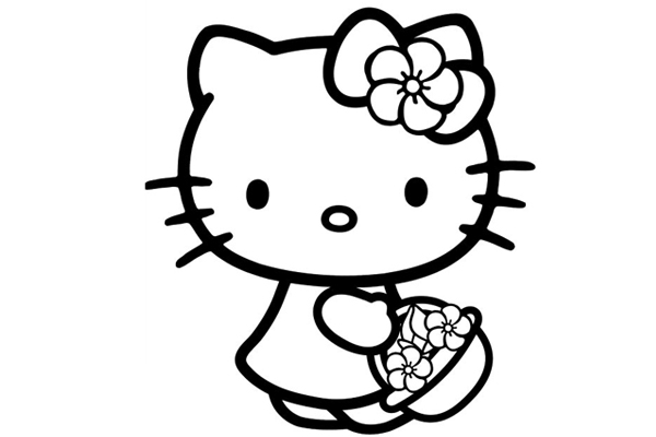 hello kitty pictures to print hello kitty free to color for kids hello kitty kids to hello kitty pictures print