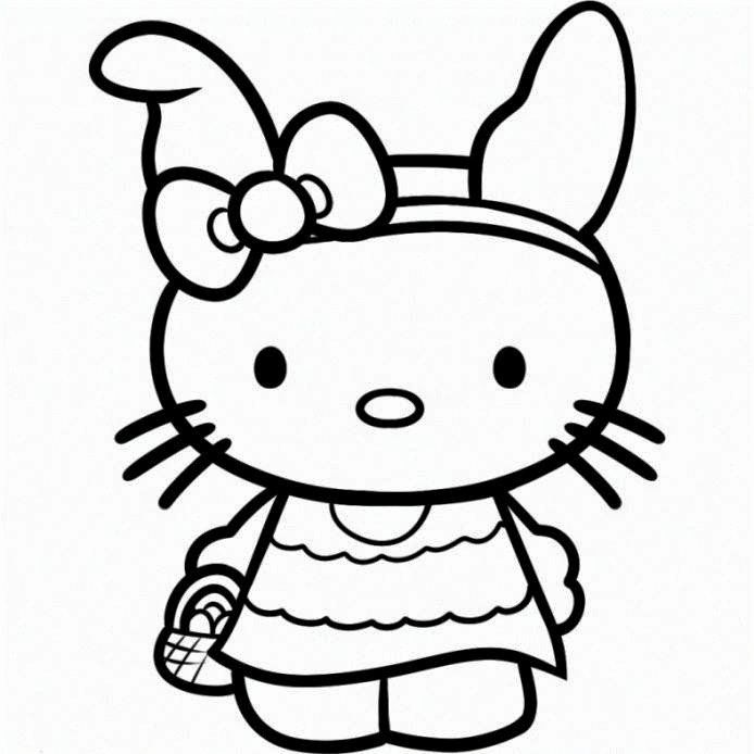 hello kitty spring coloring pages free coloring pages hello kitty easter coloring pages kitty spring coloring hello pages