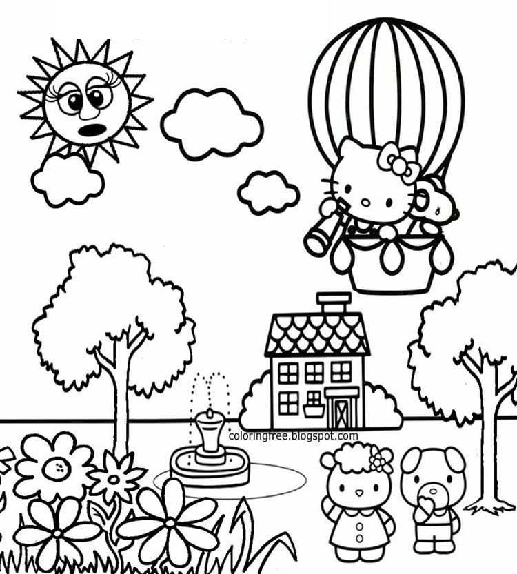 hello kitty spring coloring pages free printable hello kitty coloring pages for pages spring coloring pages hello kitty