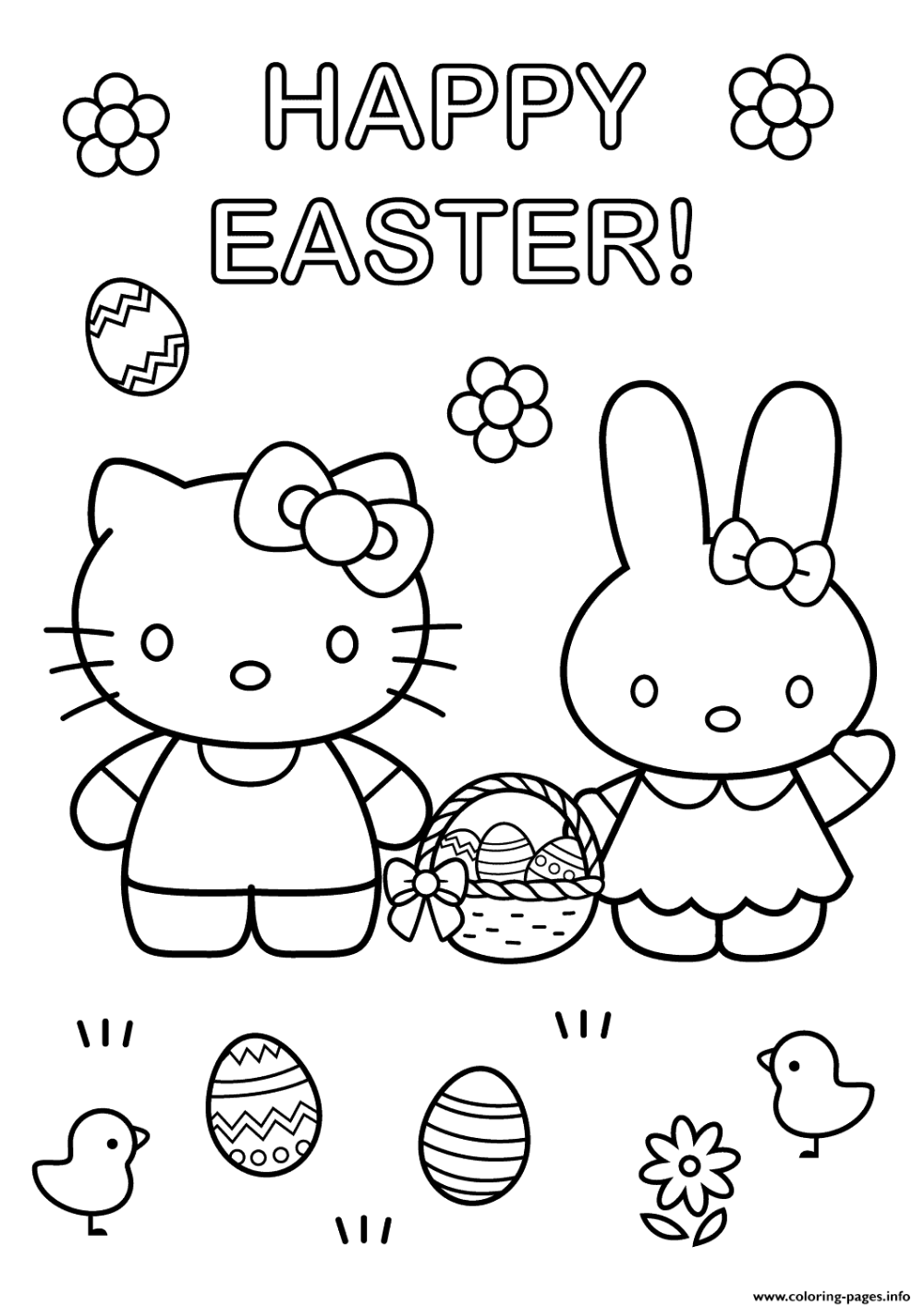 hello kitty spring coloring pages hello kitty easter bunny coloring pages cartoons kitty coloring pages hello spring