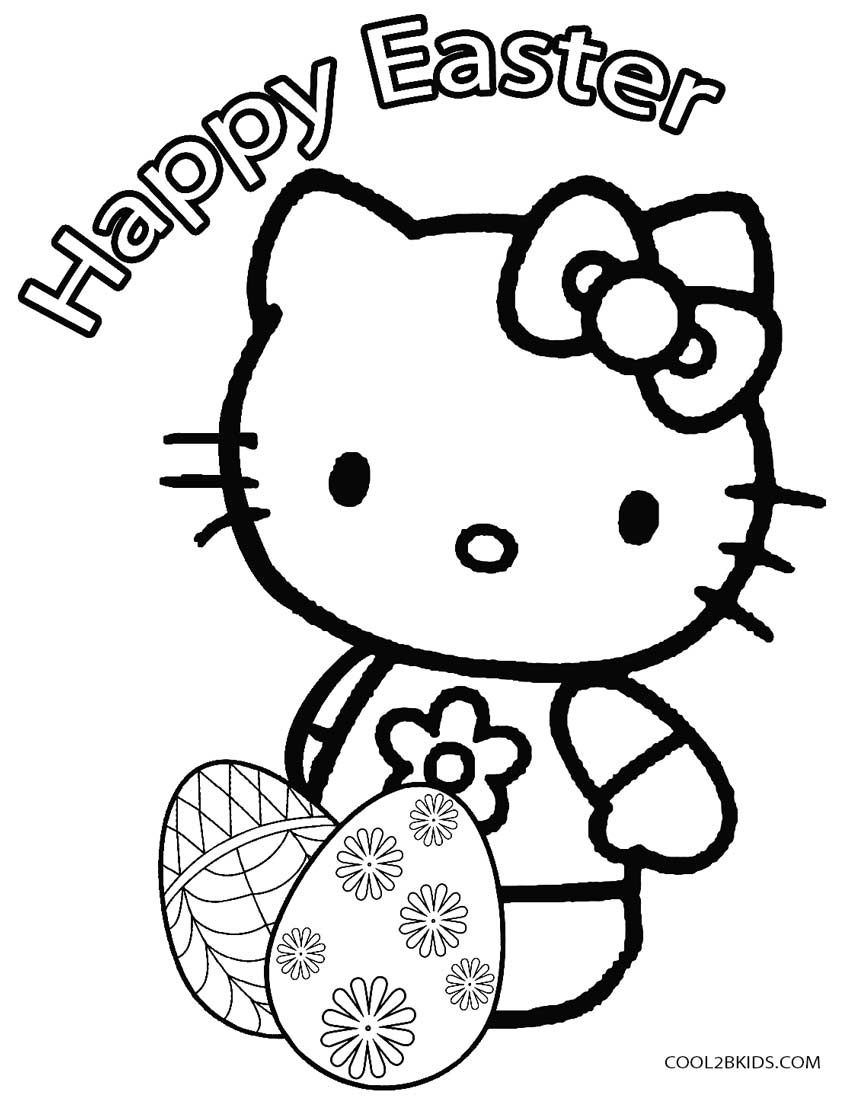 hello kitty spring coloring pages hello kitty easter coloring pages at getdrawings free hello coloring spring kitty pages