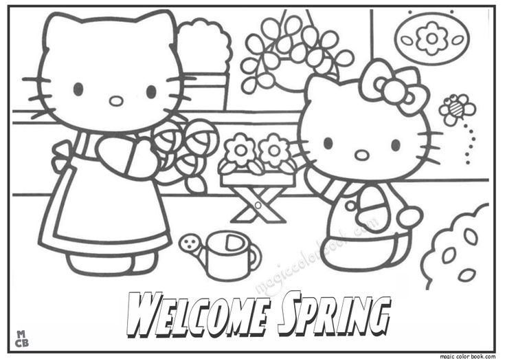 hello kitty spring coloring pages hello kitty superhero coloring pages divyajananiorg spring coloring kitty hello pages