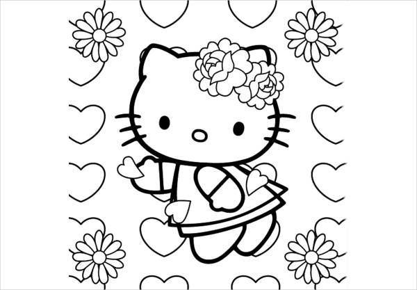hello kitty spring coloring pages hellokitty spring coloring page spring pages kitty hello coloring
