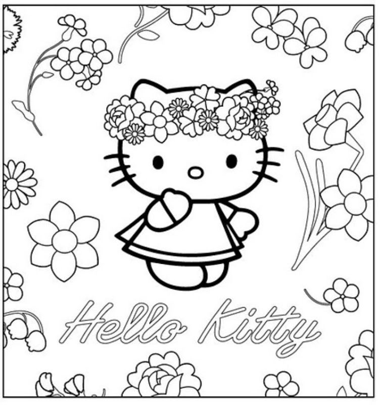 hello kitty spring coloring pages pin by happykidsactivity on coloring for kids collection pages kitty hello spring coloring