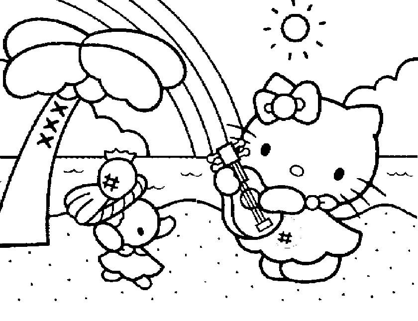 hello kitty summer coloring pages free printable hello kitty coloring pages for pages summer coloring hello kitty pages