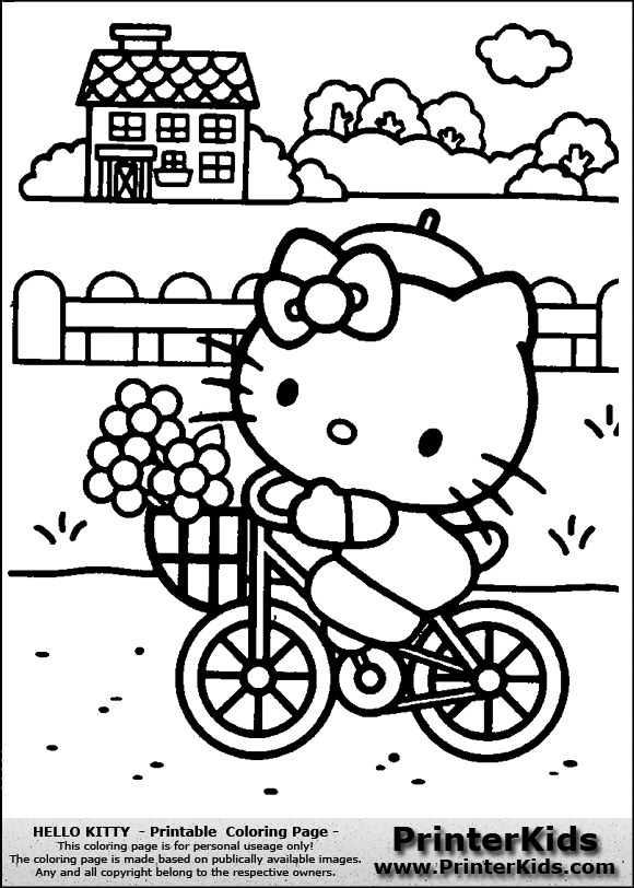 hello kitty summer coloring pages hello kitty goes swimming coloring page free printable hello pages coloring summer kitty