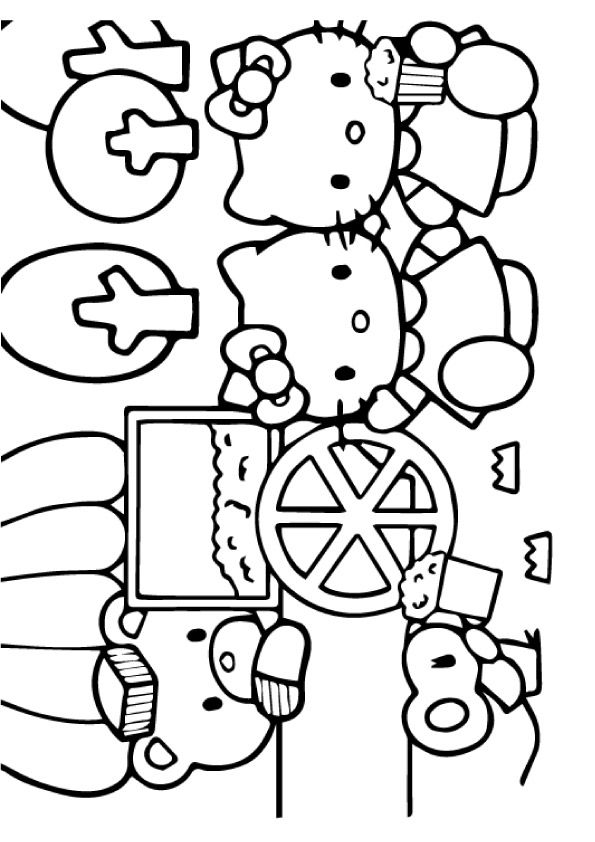 hello kitty summer coloring pages hello kitty summer coloring pages kitty coloring hello pages summer