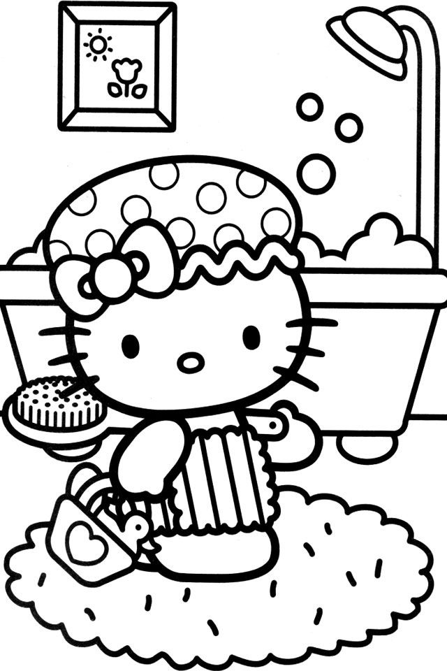 hello kitty summer coloring pages hello kitty with gift box coloring page in 2020 hello hello coloring summer kitty pages