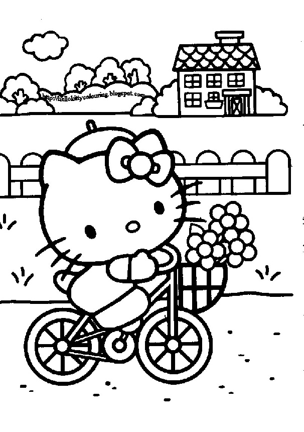 hello kitty summer coloring pages printable hello kitty beach in summer free sheets coloring hello summer kitty coloring pages