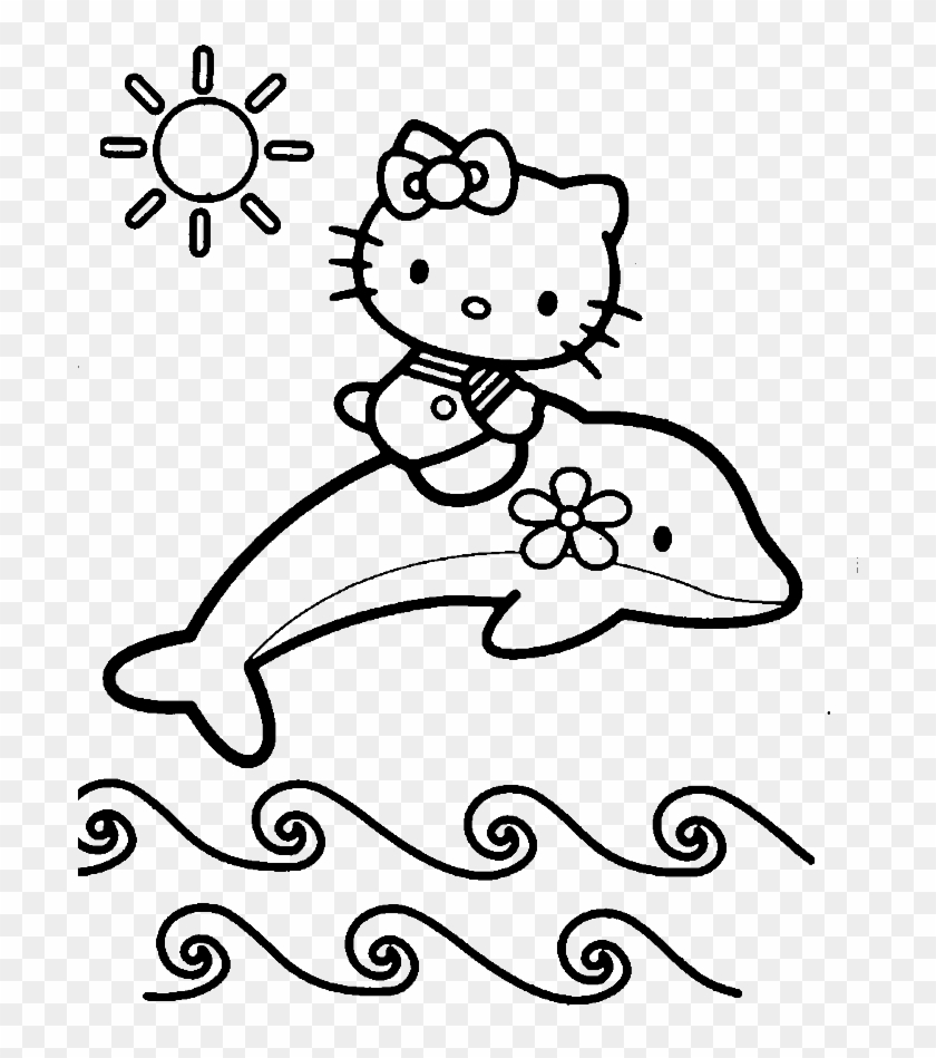 hello kitty summer coloring pages printable hello kitty coloring pages cute and easy summer kitty pages coloring hello