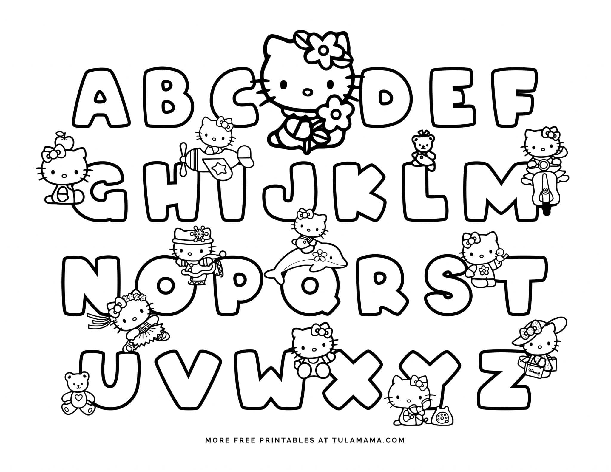 hello kitty worksheets printable free hello kitty printables and abc coloring pages tulamama kitty worksheets hello printable