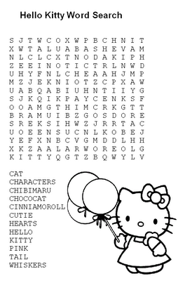 hello kitty worksheets printable word search hello kitty pinned by generation ikid hello worksheets kitty printable