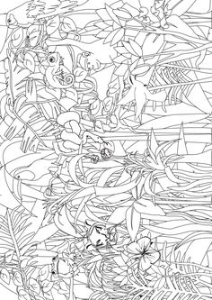 henri rousseau coloring pages a short demo of using overlapping to draw a jungle scene rousseau pages henri coloring
