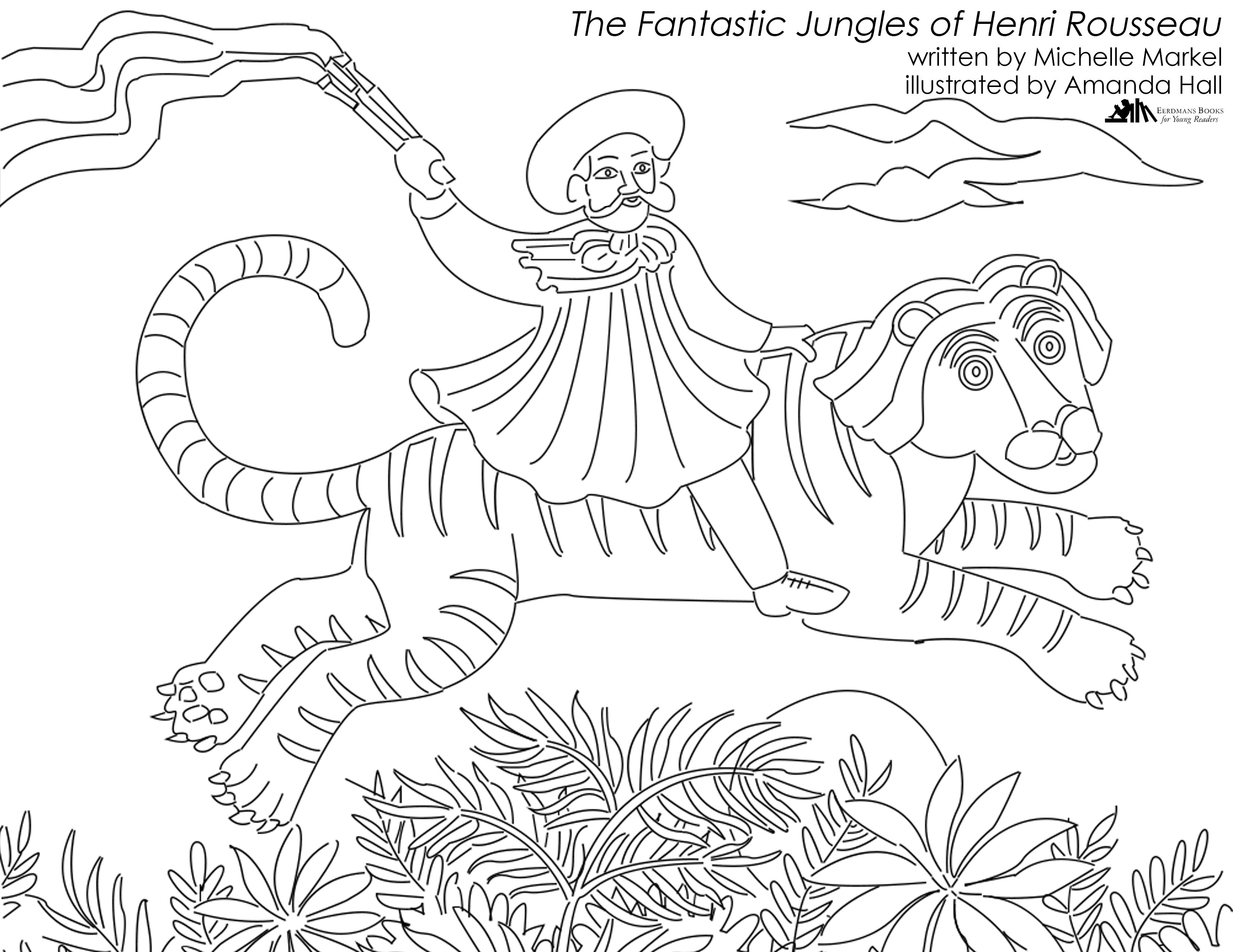 henri rousseau coloring pages gypsy coloring pages to print free coloring sheets rousseau henri coloring pages