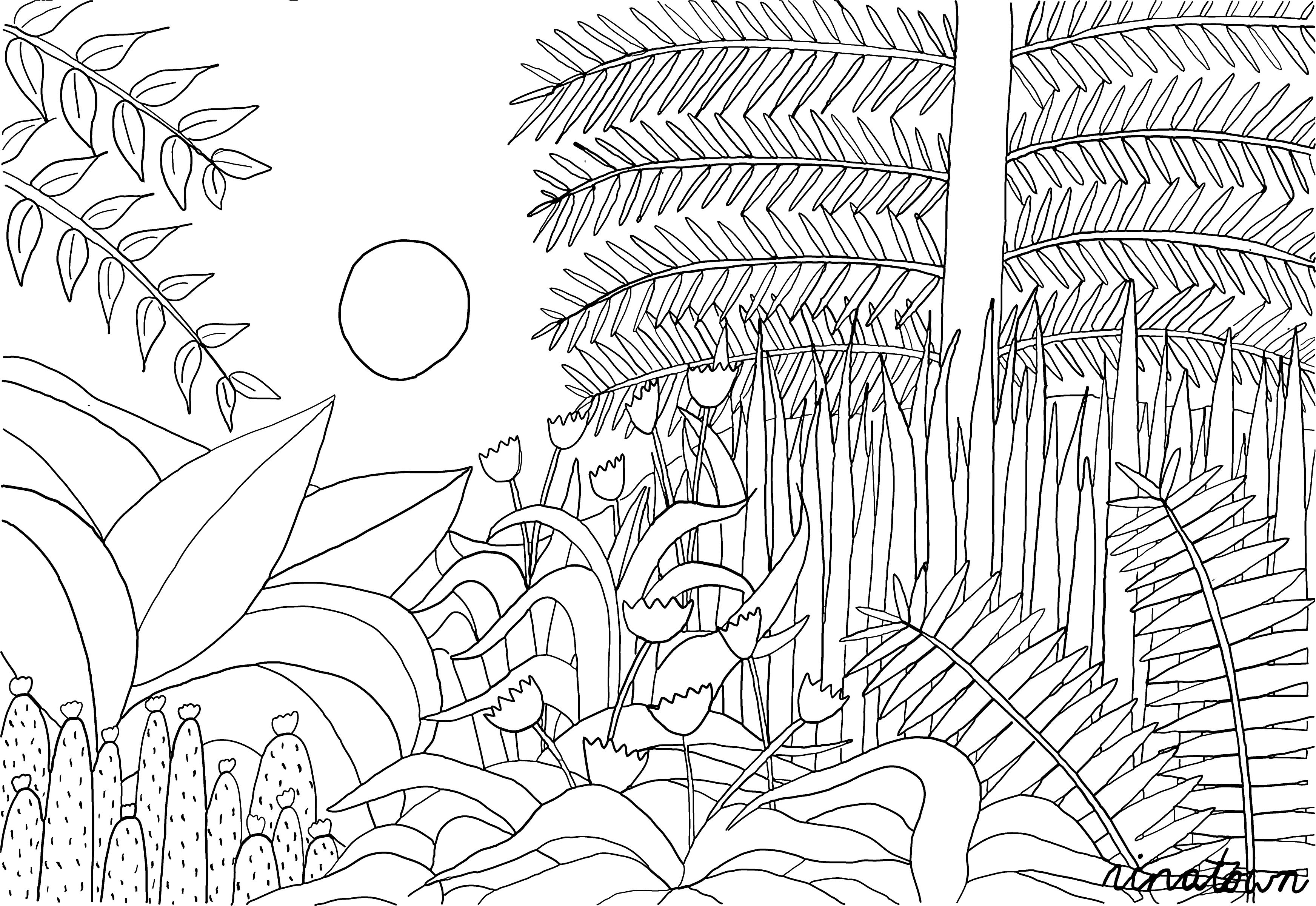 henri rousseau coloring pages the repast of the lion 1907 by henri julien rousseau pages coloring rousseau henri