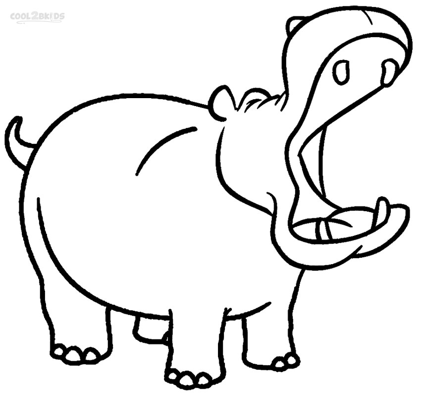 hippopotamus coloring pages hippo coloring pages coloring hippopotamus pages